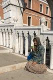 Beggar Venice, Italy Stock Photography