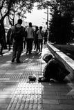 Beggaring Bettler Lizenzfreies Stockfoto