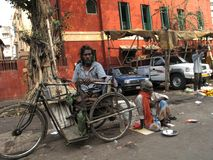 Beggars of Calcutta Royalty Free Stock Photography