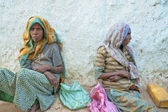 Beggars in harar ethiopia Royalty Free Stock Photos