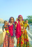 Beggars in Jaipur, India Royalty Free Stock Images