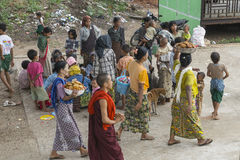 Beggars in Myanmar Stock Photos