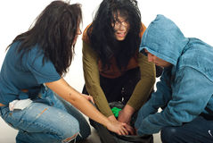 Beggars search in garbage Stock Image