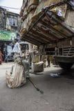Beggars at street in Kolkata, India Royalty Free Stock Photography