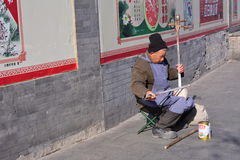 Beggars who are respected by others Stock Photo