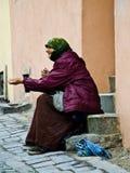 Begger在罗马尼亚 免版税库存照片