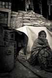 Begger of Amritsar, Punjab, India Stock Photos