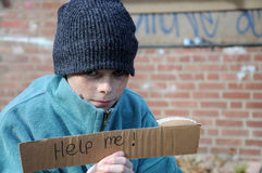 Begging boy Royalty Free Stock Images