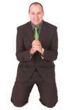 Begging businessman #3 Royalty Free Stock Photo