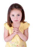 Begging girl Stock Photo