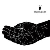 Begging hand, detailed vector illustration Stock Photography