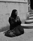 Begging in Venice Royalty Free Stock Image