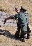 "The begging of war. The historical reconstruction of Russian-German battle for pillbox â""–179 near Kiev on June 22, 2013 in Vita-Poshtova, Ukraine royalty free stock photos"
