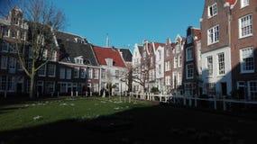 Beghine okręg Amsterdam obraz royalty free
