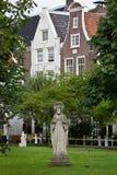 Begijnhof -阿姆斯特丹 免版税库存图片