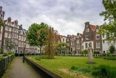 The begijnhof in Amsterdam Royalty Free Stock Photography