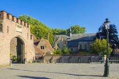 Begijnhof Beguinage Bruges Belgia Obraz Royalty Free