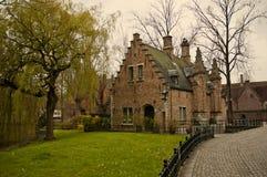 Begijnhof in Bruges. Belgium in spring Stock Photography