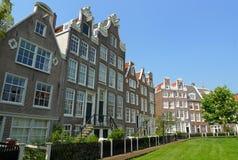 Begijnhof facades Royalty Free Stock Image