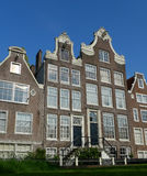 Begijnhof facades from ground level Stock Photography