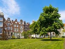 Begijnhof Gericht in Amsterdam Stockbild