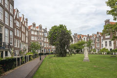 Begijnhof houses in Amsterdam, Netherlands Stock Photography