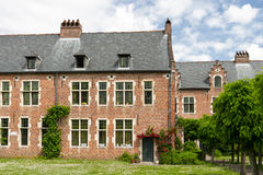 Begijnhof, Leuven. Traditional architecture house in Grand Beguinage of Leuven stock images