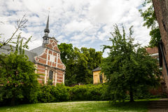 Begijnhof, Leuven. Traditional architecture house in Grand Beguinage of Leuven royalty free stock photos