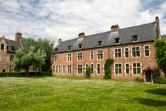 Begijnhof, Leuven. Traditional architecture house in Grand Beguinage of Leuven stock image