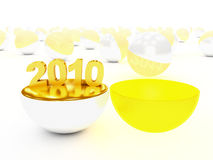 Begin of 2010 year Royalty Free Stock Images