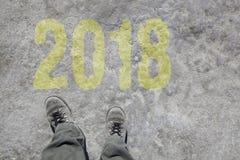 Begin 2018 Royalty-vrije Stock Afbeelding