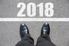 Begin aan nieuw jaar 2018 Stock Foto