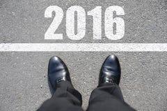 Begin aan nieuw jaar Stock Foto
