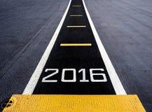 Begin aan nieuw jaar twee duizend zestien (2016) Stock Afbeeldingen