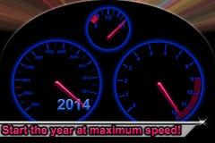 Begin het jaar bij maximumsnelheid Royalty-vrije Stock Afbeelding