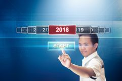 Begin het Nieuwjaar 2018 royalty-vrije stock afbeelding