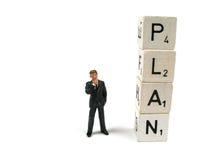Begin met een plan Stock Foto's