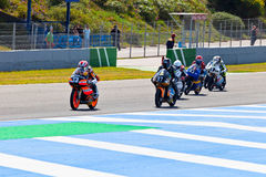 Begin of the race of 125cc  of the CEV Championship Stock Image