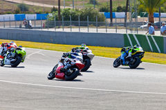 Begin of the race of Moto2 of the CEV Championship Royalty Free Stock Photo