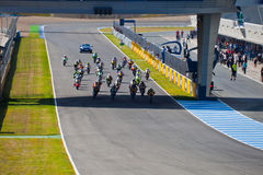 Begin of the race of Moto2 of the CEV Championship Royalty Free Stock Images
