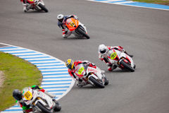 Begin of the training of Moto2 of the CEV Royalty Free Stock Photo