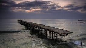 Begin van de dag, gouden zand, Bulgarije, zonsondergang, overzees Royalty-vrije Stock Fotografie