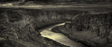 Begin van Grote Canion Stock Afbeeldingen