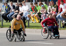 Begin van sportmannen -sportman-invalids Royalty-vrije Stock Foto's