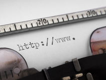 Begin van URL Stock Afbeeldingen