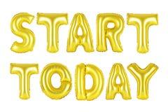 Begin vandaag, gouden kleur Royalty-vrije Stock Foto's