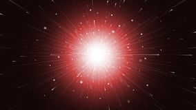 In the begining. Illustration of a bright explosive starburst Stock Photos