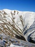 The begining. The summit Baiul Mare, is the highest peak of Baiului Mountains (near Bucegi Stock Photo