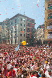 Begining of San Fermin feast Royalty Free Stock Images