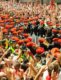 Begining of San Fermin feast Stock Photography